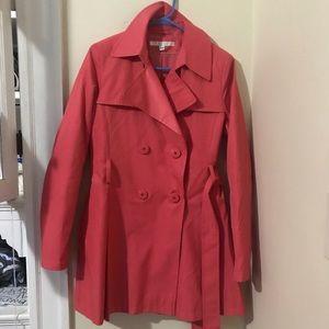 Via Spiga Pink Trench Coat Jacket M